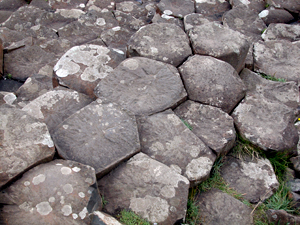 basalt tiles at giants causeway