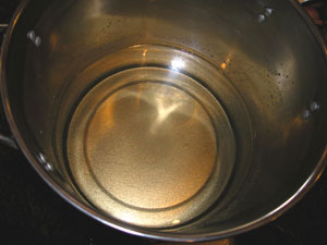 mix of two parts sugar to water after several minutes