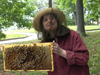 anna holds bees
