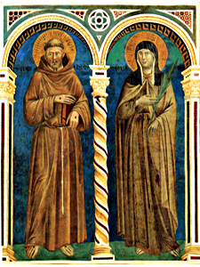 Saints Francis and Clare by Giotto